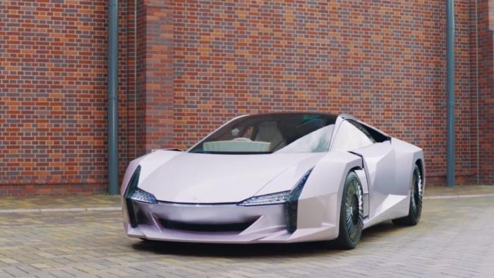 Уникальный суперкар из целлюлозы представили в Японии