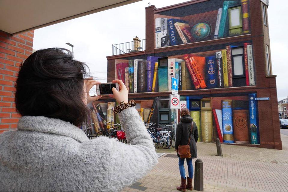 Голландские уличные художники разрисовали стену многоквартирного дома