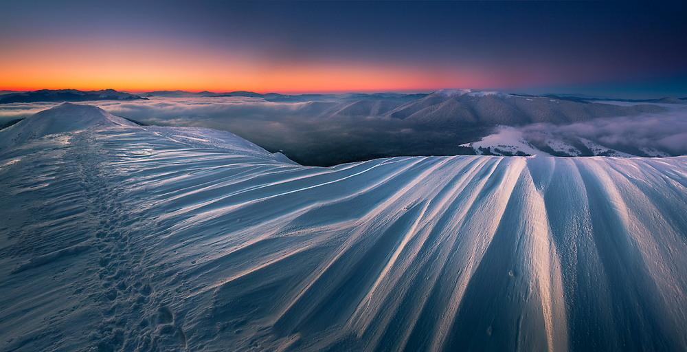 Красота зимних гор в Польше