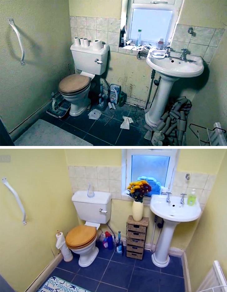 Сила чистоты на снимках до и после чистки