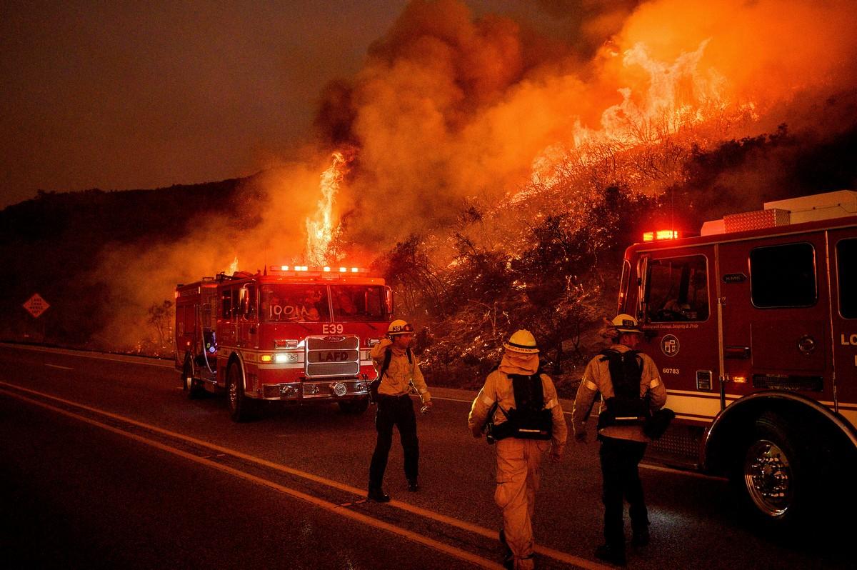 Лесные пожары в Санта-Барбаре