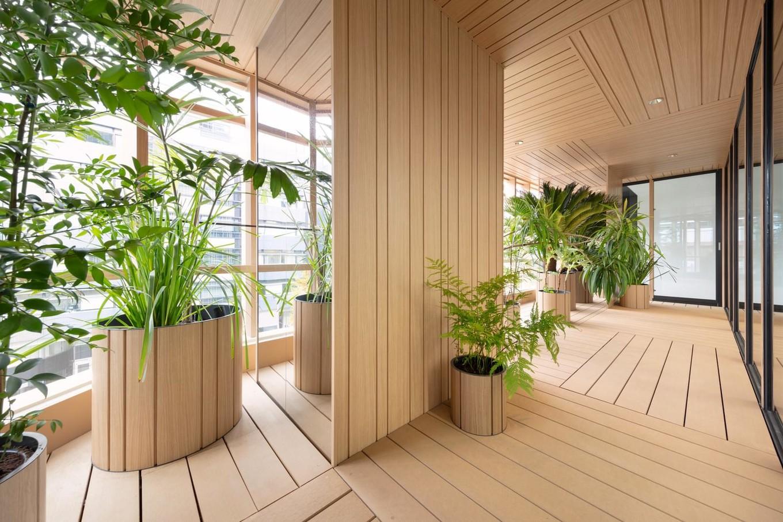 Необычное офисное здание в Токио