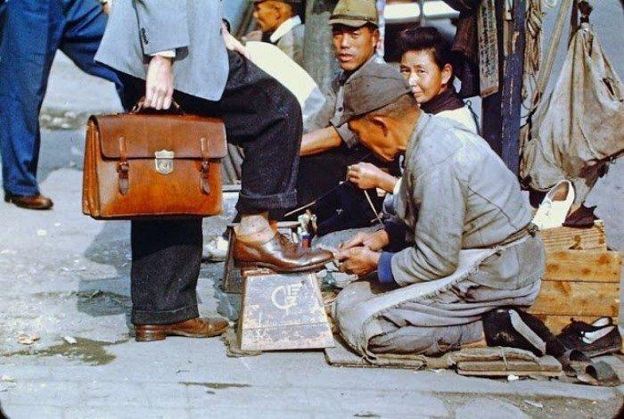 Жизнь послевоенной Японии в цветных снимках
