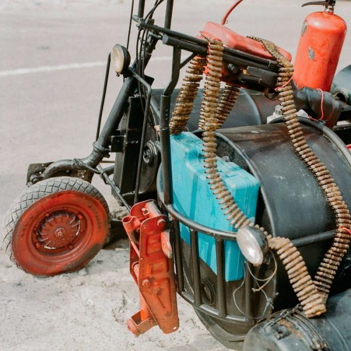 Безумные модификации скутеров Vespa в Индонезии