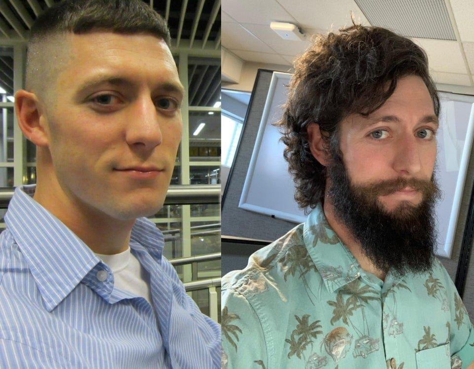 Мужчины с пышной бородой на снимках до и после
