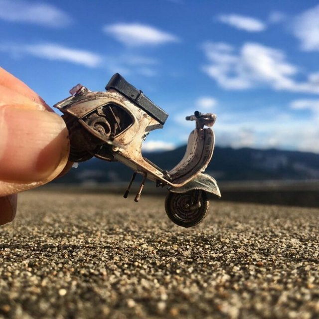 Потрясающие миниатюрные миры от художника из Тайваня