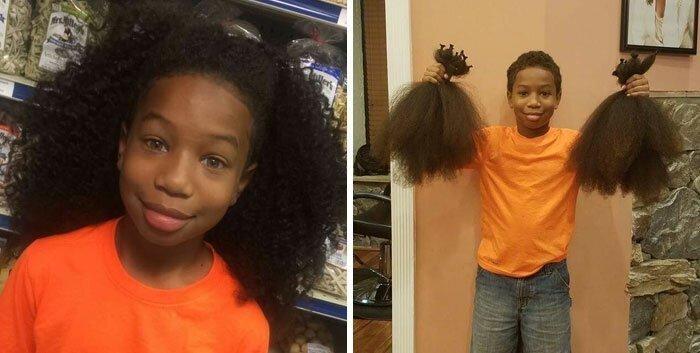 Люди жертвуют свои волосы на парики для онкобольных