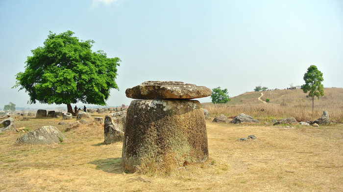 Kő kancsók völgye Laoszban
