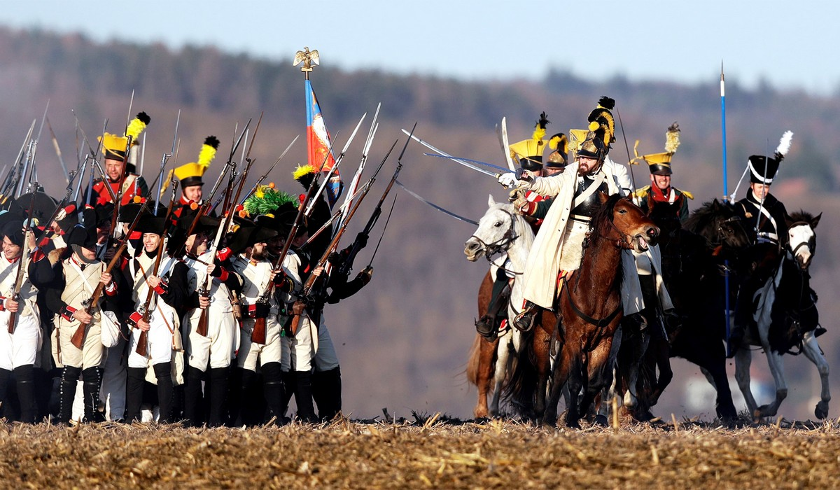 Реконструкции битвы 1805 года под Аустерлицем