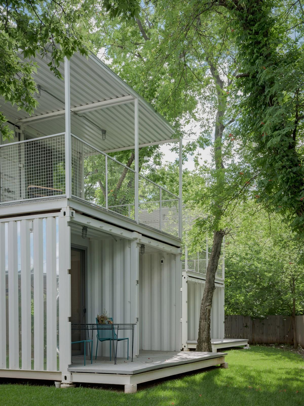 Дома из морских контейнеров в Оклахома-Сити