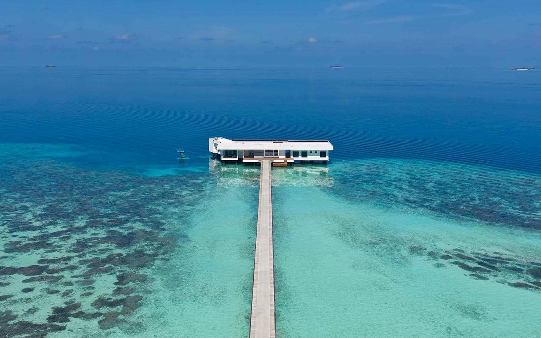 Подводная вилла в отеле на Мальдивах