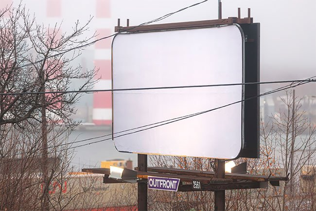 Креативное агентство решило дать всем отдохнуть от рекламы на праздники
