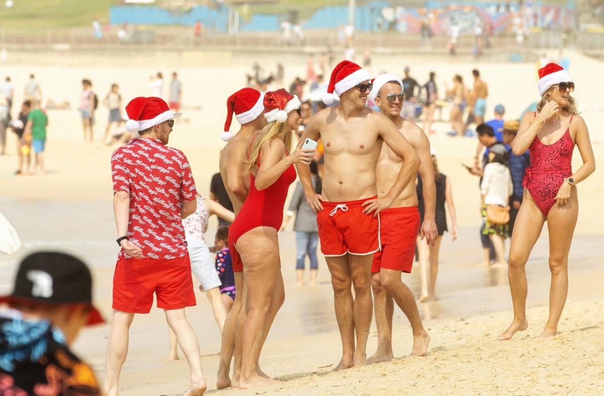 Рождество на пляже в Сиднее
