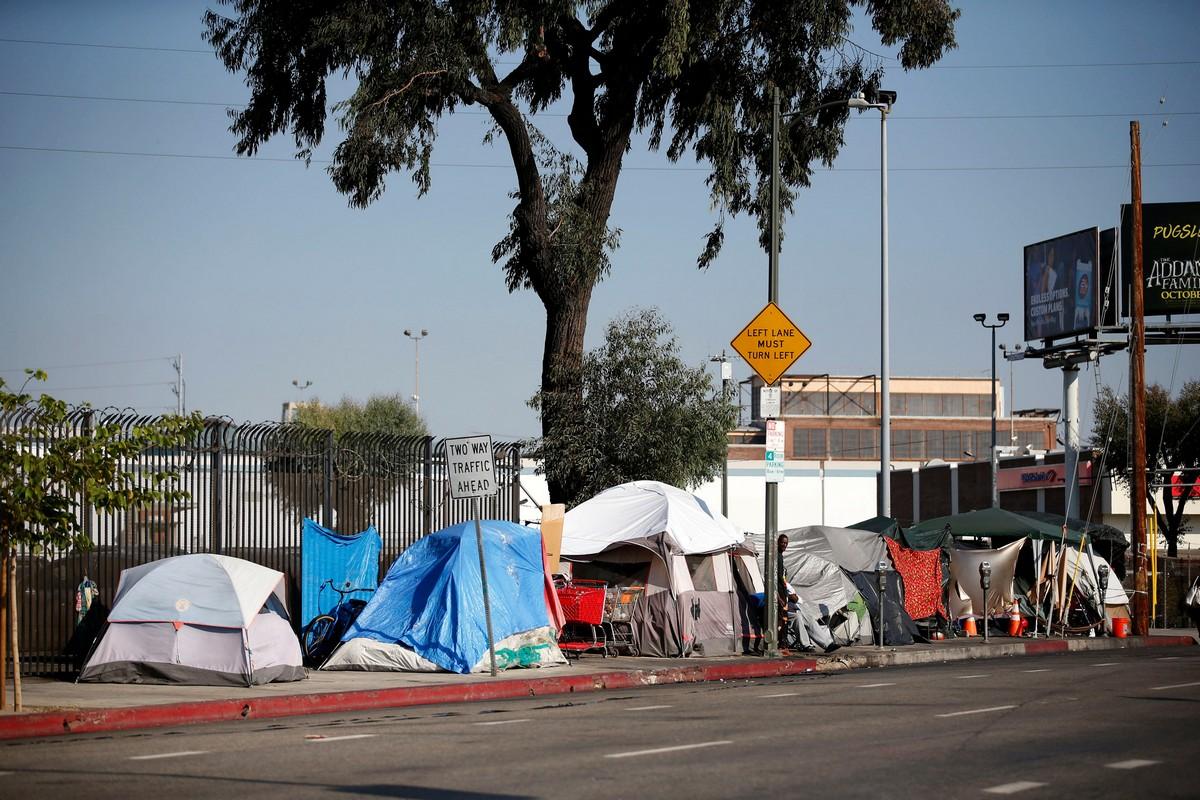 Самый неблагополучный район Скид Роу в Лос-Анджелесе