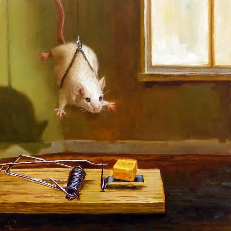 Повседневная жизнь мышей в забавных иллюстрациях