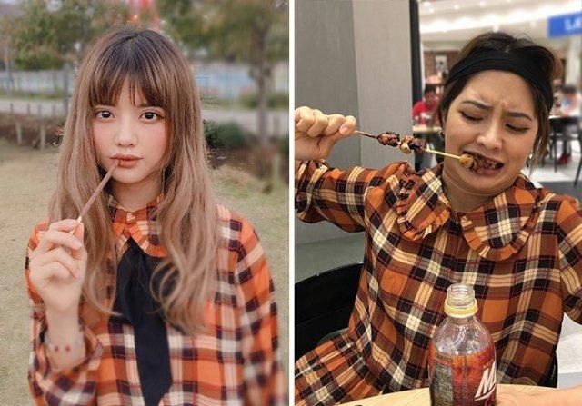 Instagram модель из Таиланда показала, что остается за кадром