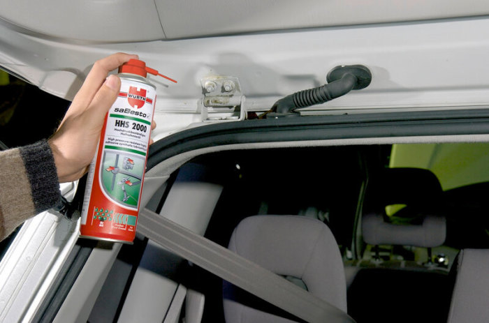 Какие места в автомобиле обязательно нужно смазывать зимой