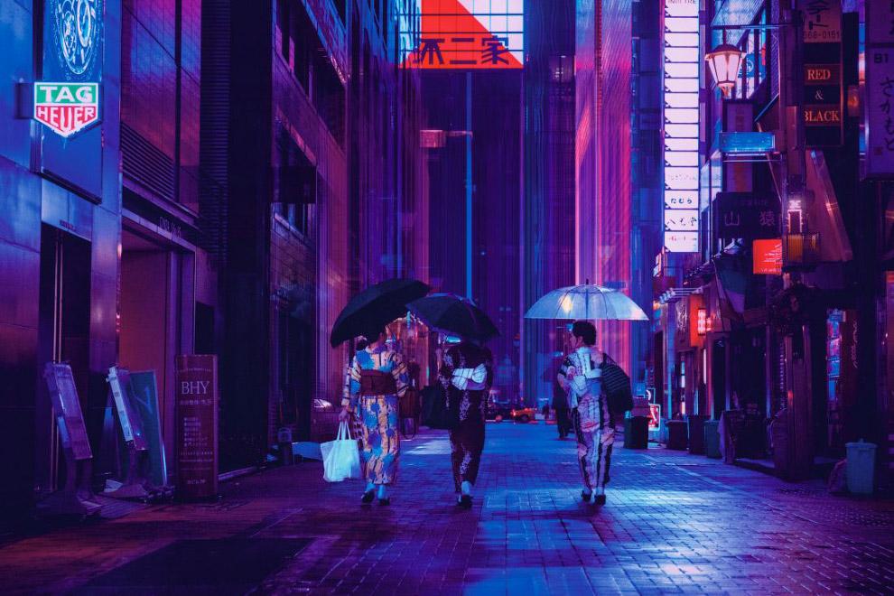 Ночной мир Токио на снимках Лиама Вонга
