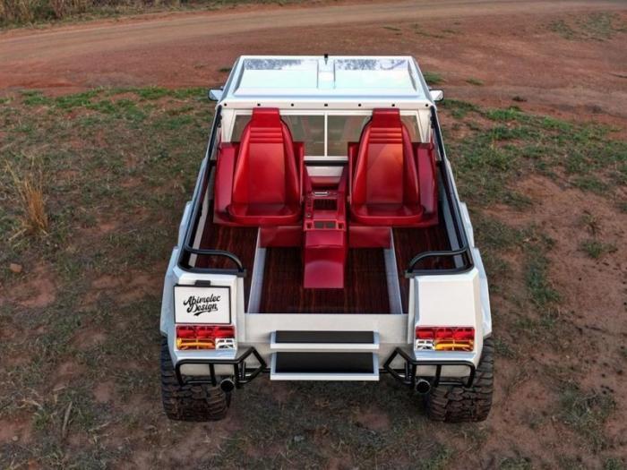 Рендер трехосного внедорожника Lamborghini LM002 6x6 Safari