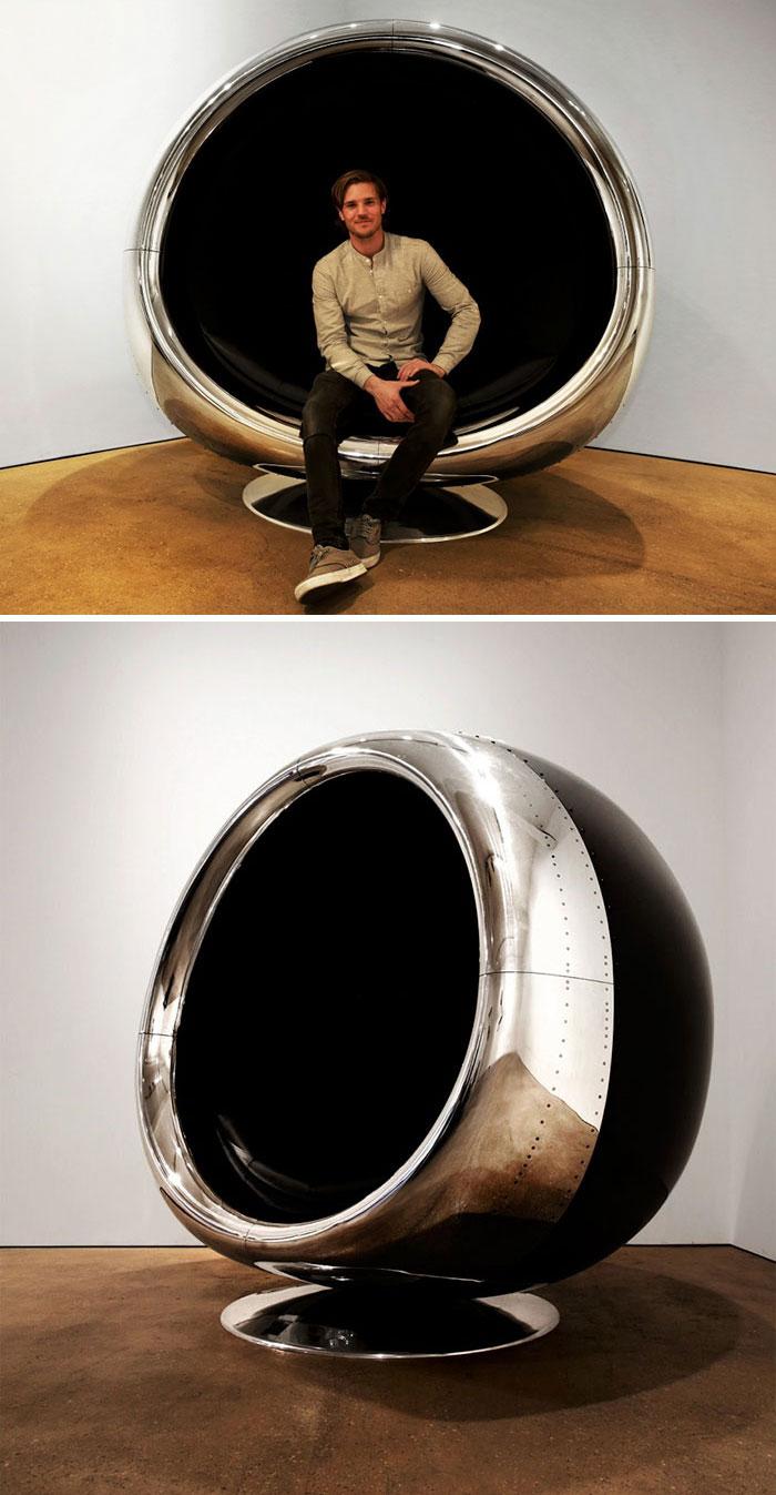 Kreatív bútorok repülőgép-alkatrészekből