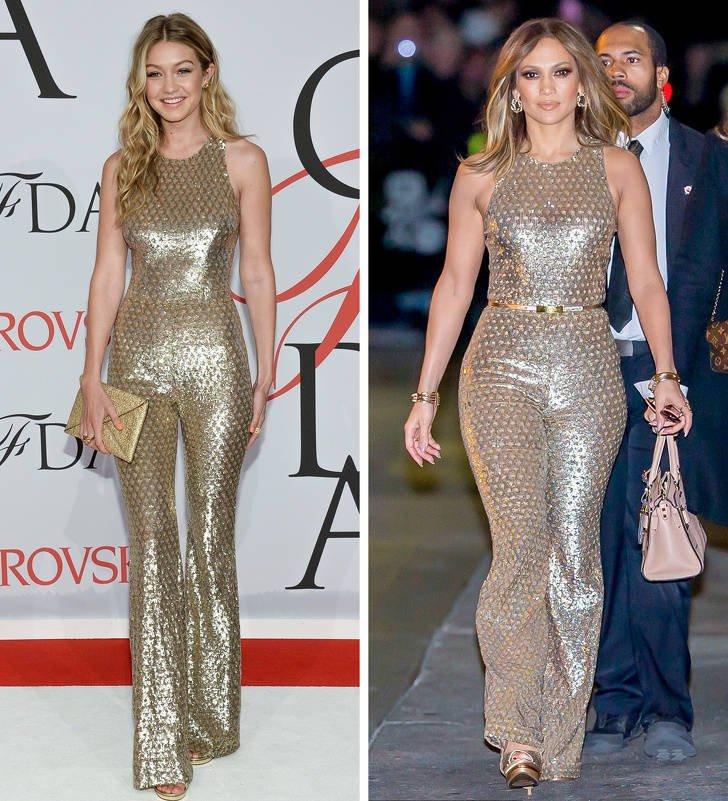 Знаменитости в одинаковых нарядах на разных мероприятиях