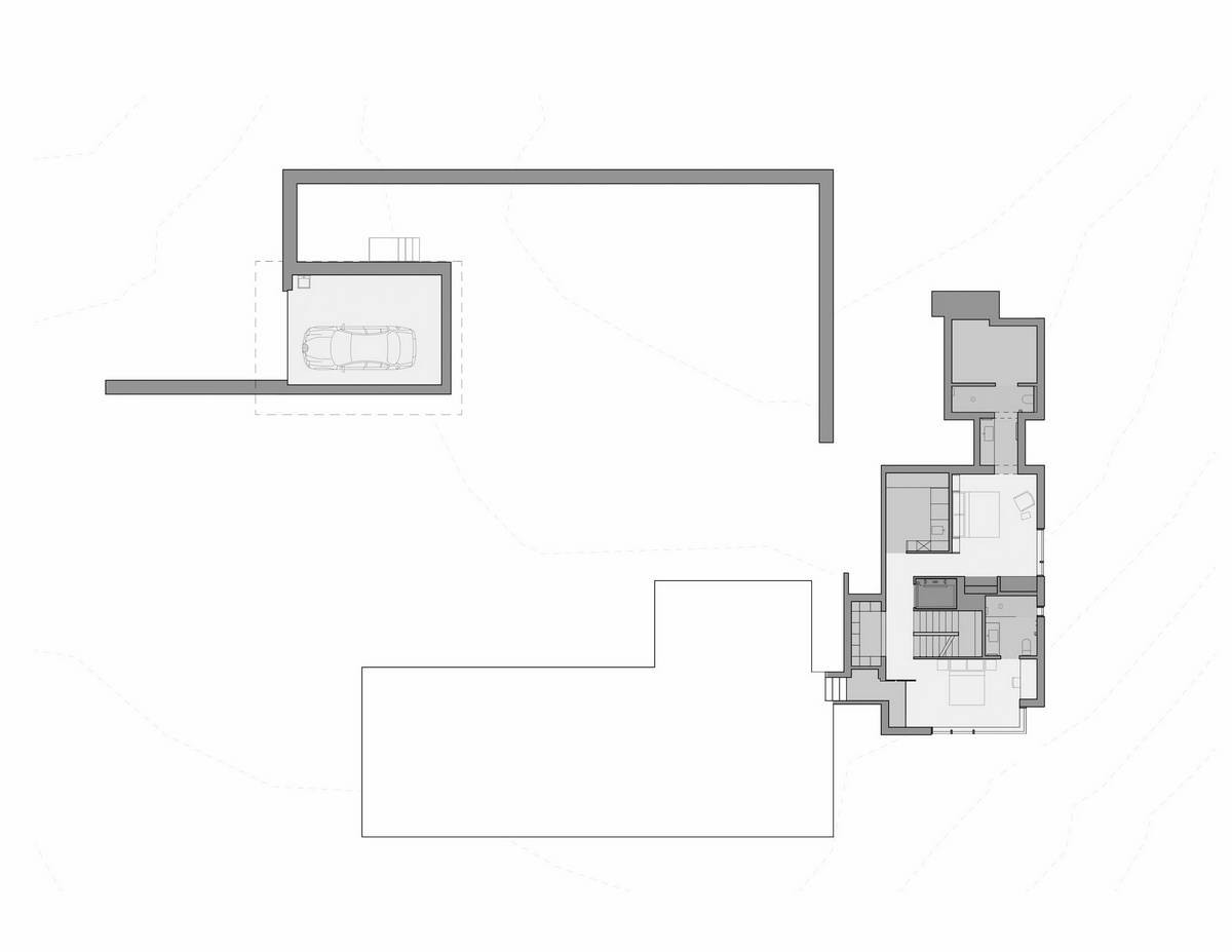 Модернистский лесной дом на острове Уидби в США