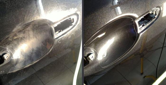 Как избавиться от царапин под дверными ручками автомобиля