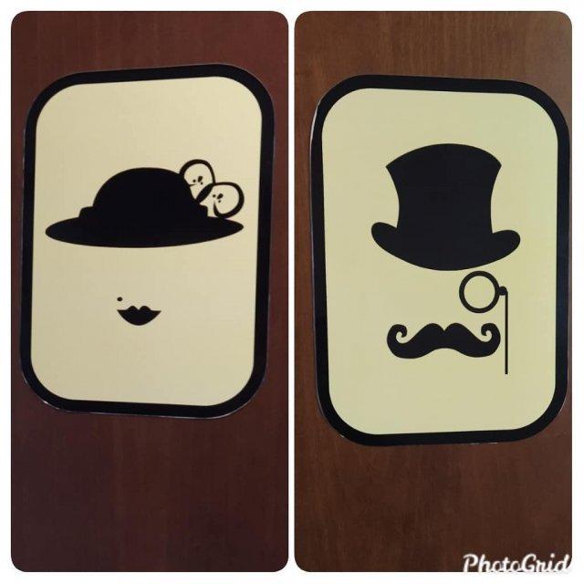 Забавные и необычные таблички для туалетов