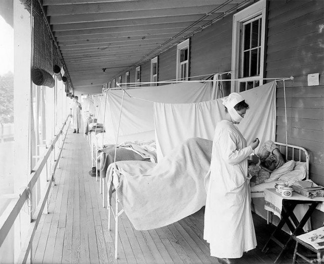 Фотографии времен пандемии смертоносной испанки