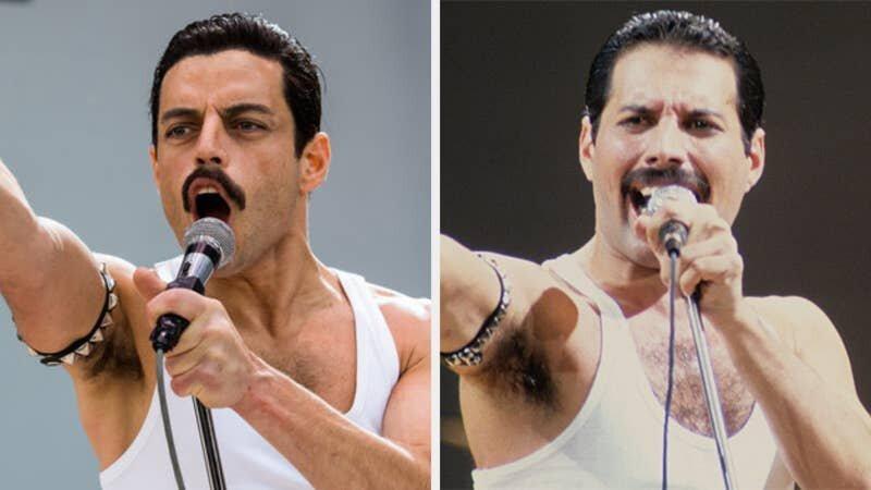 Снимки актеров и знаменитых музыкантов, которых они играли