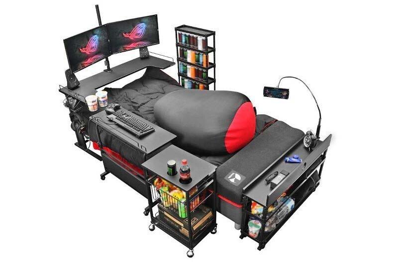 Японцы создали специальную кровать для любителей видеоигр