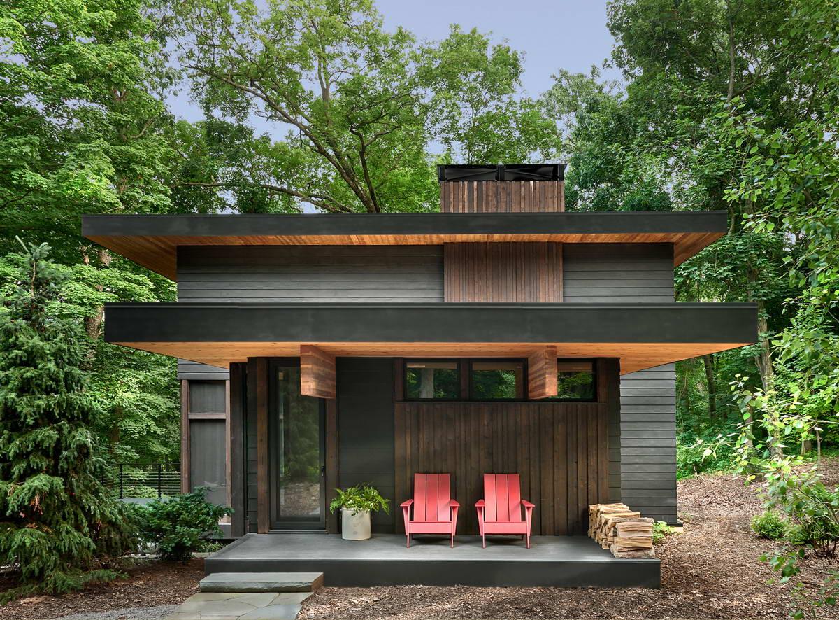 Лесной дом для молодой пары в Мичигане