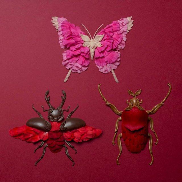 Художник объединяет флору и фауну в оригинальных композициях