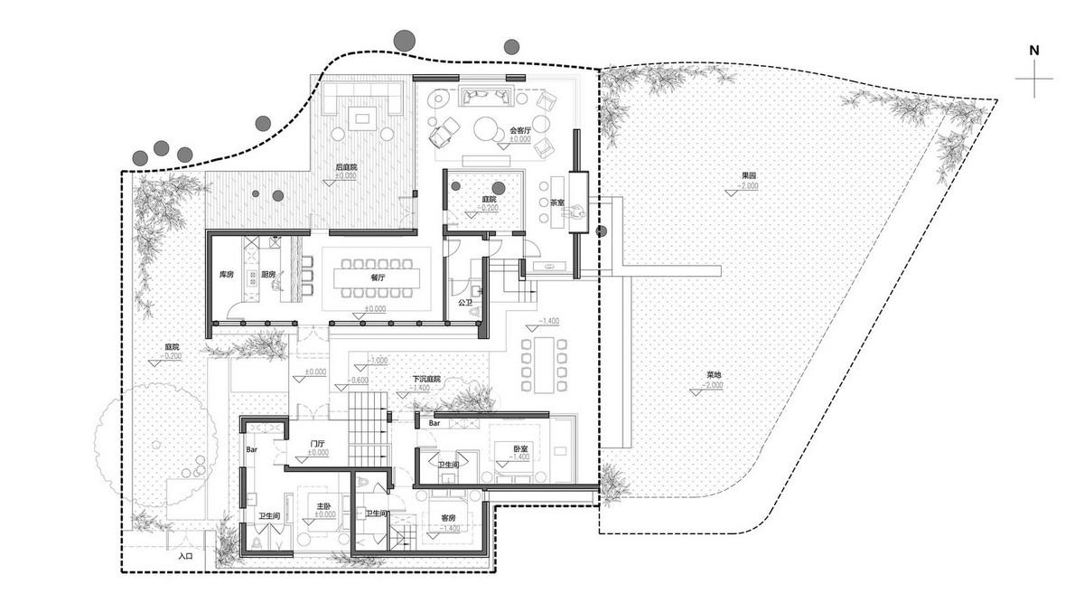 Дом с уникальным внутренним двором в Китае