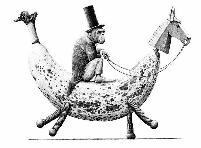 Жутковатые и странные рисунки художника Редмера Хокстры из Нидерландов