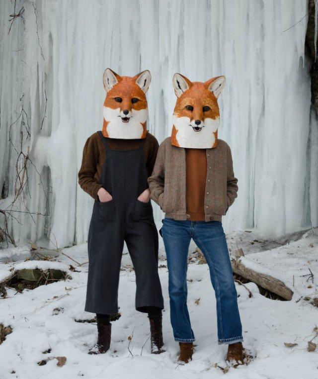 Реалистичные маски животных из папье-маше от Лиз Секстон