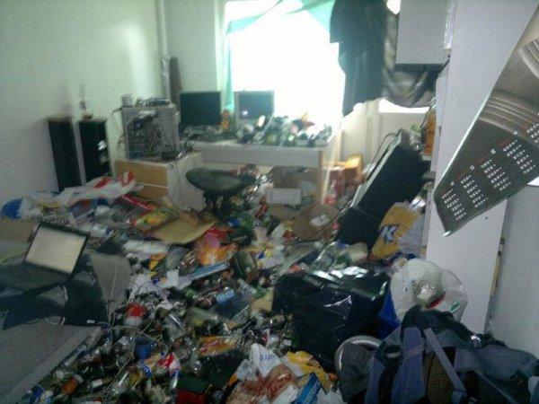 Комнаты максимальных грязнуль