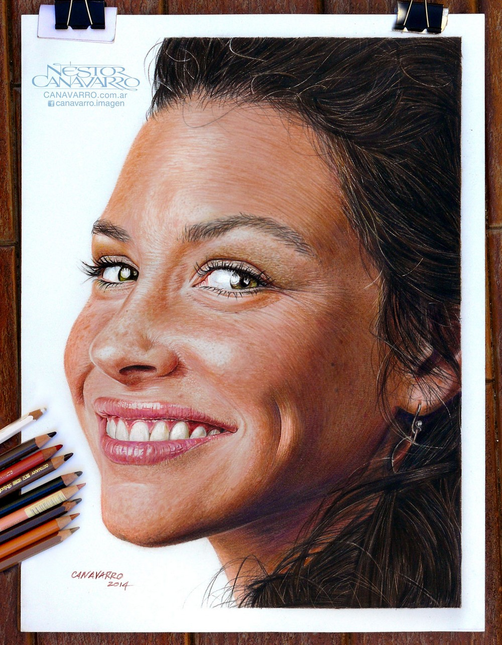 Гиперреалистичные портреты карандашами от Нестора Канаварро