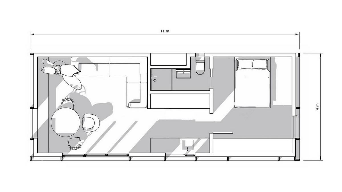 Компактный модульный дом в Калифорнии