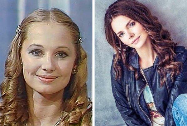 Знаменитые российские родители и их дети в одном возрасте