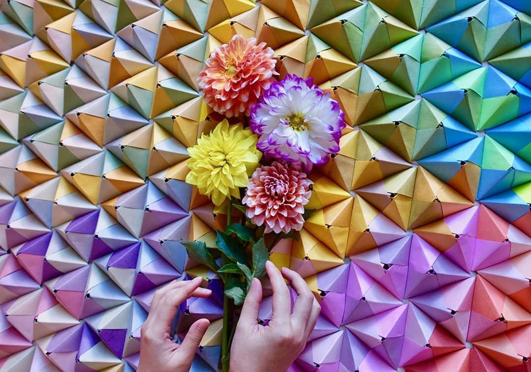 Яркие градиентные оригами от Джуэл Каватаки