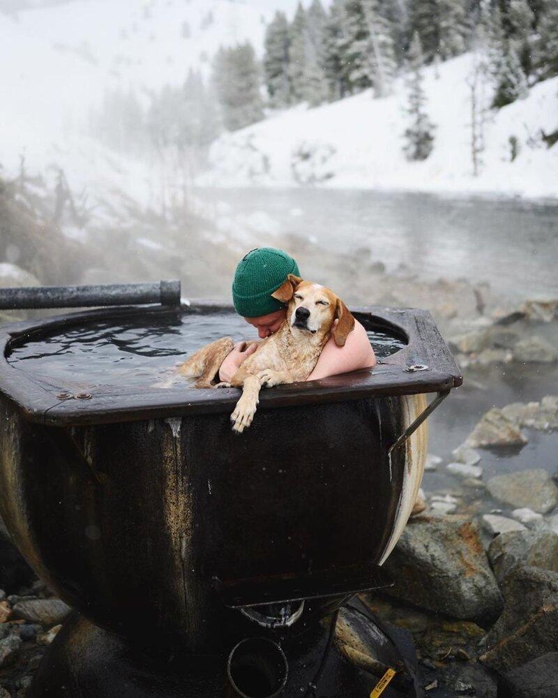 Фотограф Терон Хамфри и его собака Мэдди путешествуют вместе