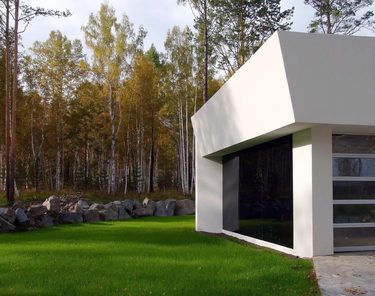 Модернистский дом на берегу Байкала