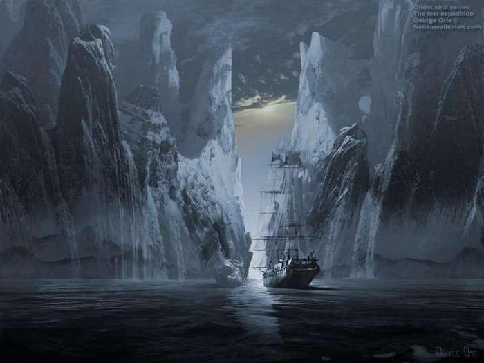 Морская легенда о корабле-призраке, замерзшем во льдах со всей командой
