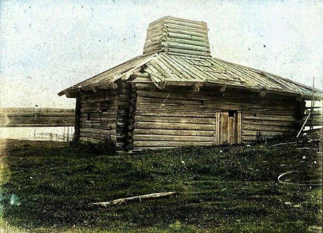 Снимки русских деревень конца XIX века в цвете