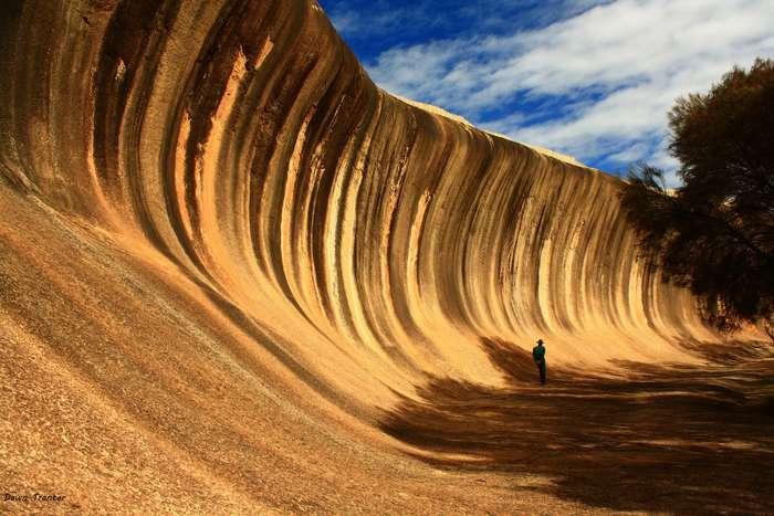 Застывшая каменная волна в Австралии