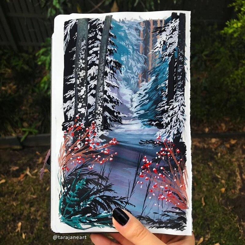 Яркие природные иллюстрации от австралийской художницы