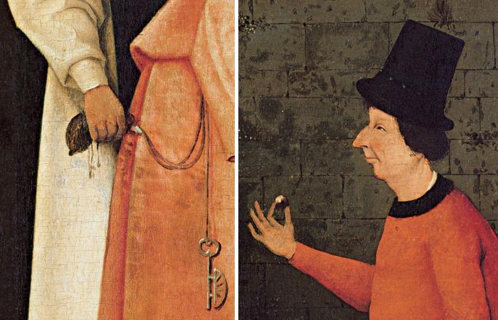 Человеческие пороки, скрытые в деталях картины Иеронима Босха Фокусник