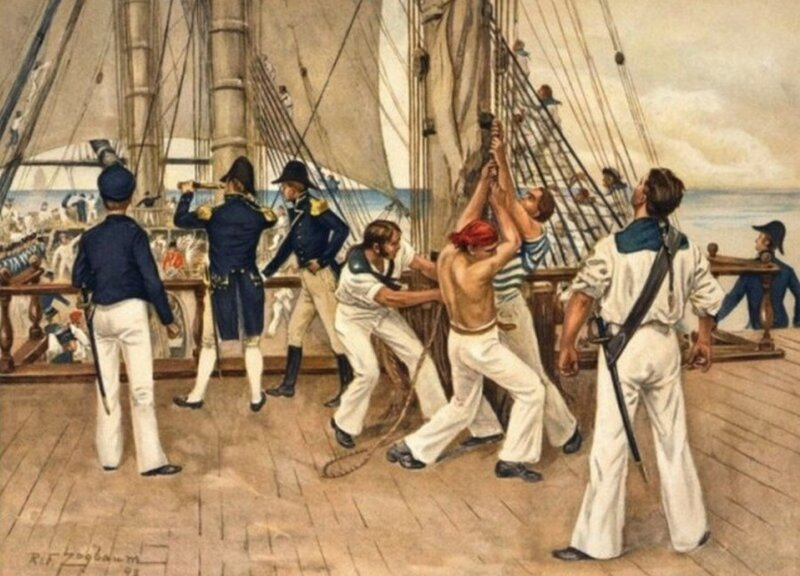 Килевание — страшное наказание моряков из прошлого