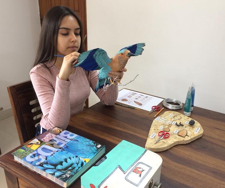 Реалистичные бумажные птицы от индийской художницы